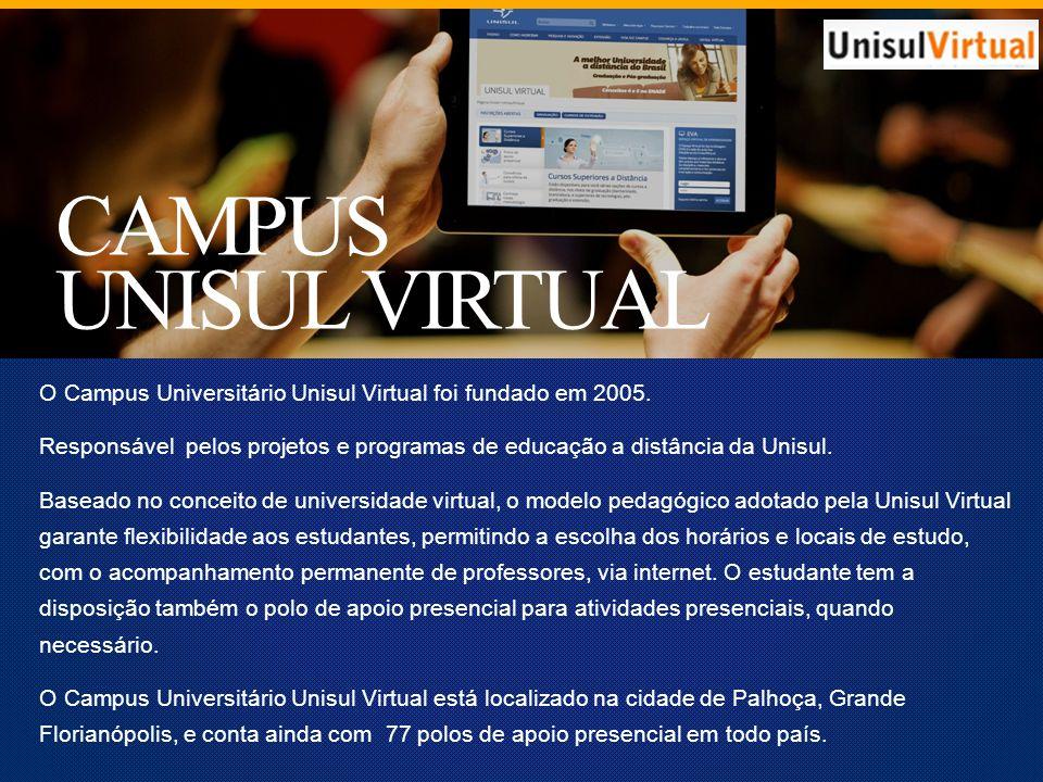 CAMPUS UNISUL VIRTUAL O Campus Universitário Unisul Virtual foi fundado em 2005.