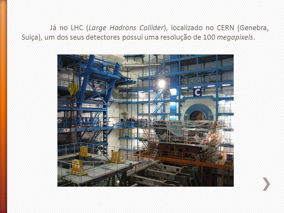 Já no LHC (Large Hadrons Collider), localizado no CERN (Genebra, Suiça), um dos seus detectores possui uma resolução de 100 megapixels.