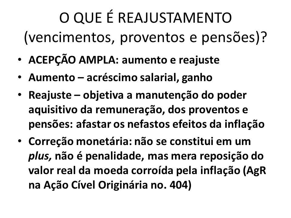 QUADRO DO REAJUSTAMENTO DAS PENSÕES Paridade/pensão Reajuste/pensão Art.6ªA EC 70 art.40,§7º.,CF (par.único) Art.7º.EC 41 Art.