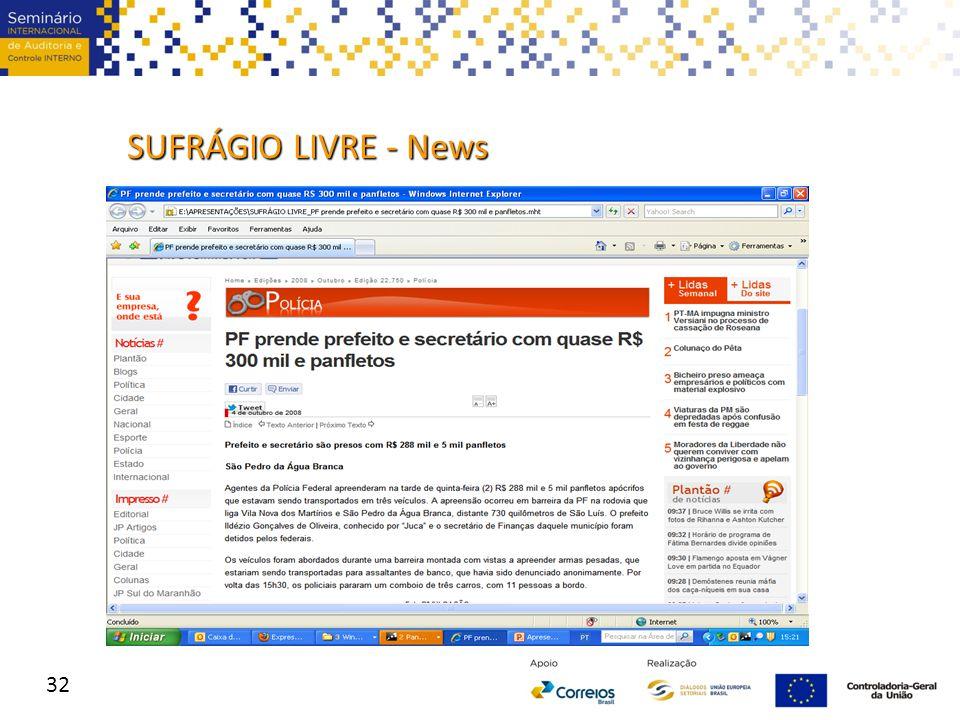 32 SUFRÁGIO LIVRE - News