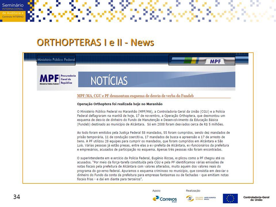 34 ORTHOPTERAS I e II - News