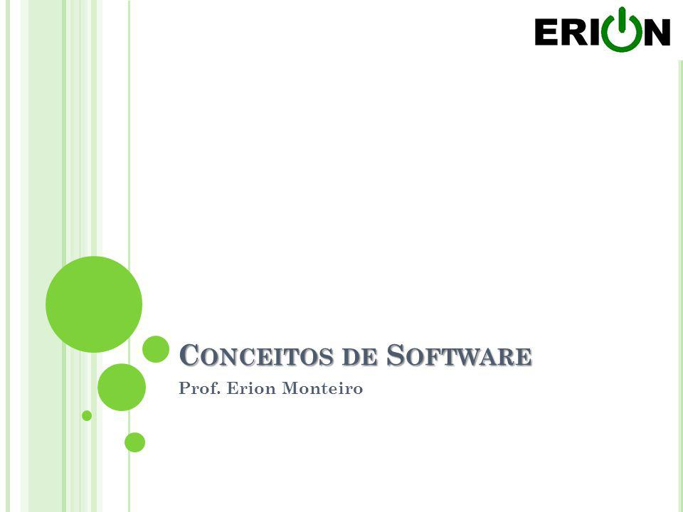 C ONCEITOS DE S OFTWARE Prof. Erion Monteiro