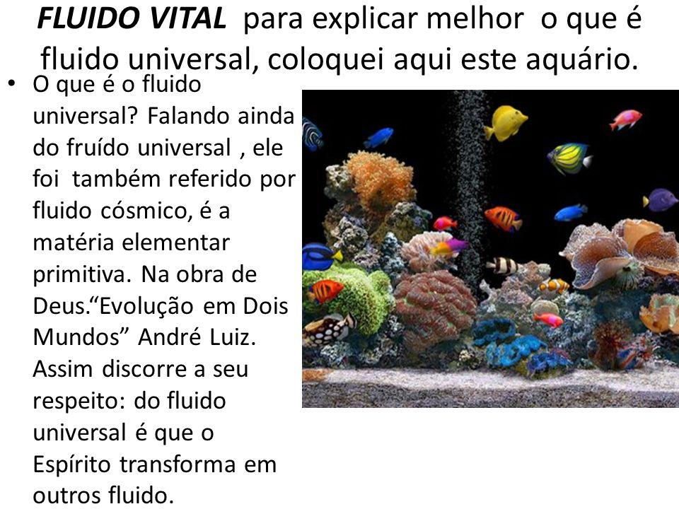 FLUIDO VITAL para explicar melhor o que é fluido universal, coloquei aqui este aquário. O que é o fluido universal? Falando ainda do fruído universal,