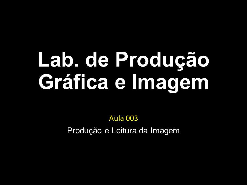 Lab. de Produção Gráfica e Imagem Aula 003 Produção e Leitura da Imagem