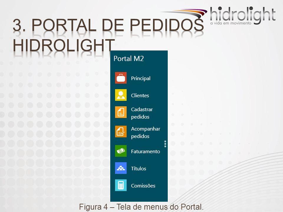 Figura 4 – Tela de menus do Portal.