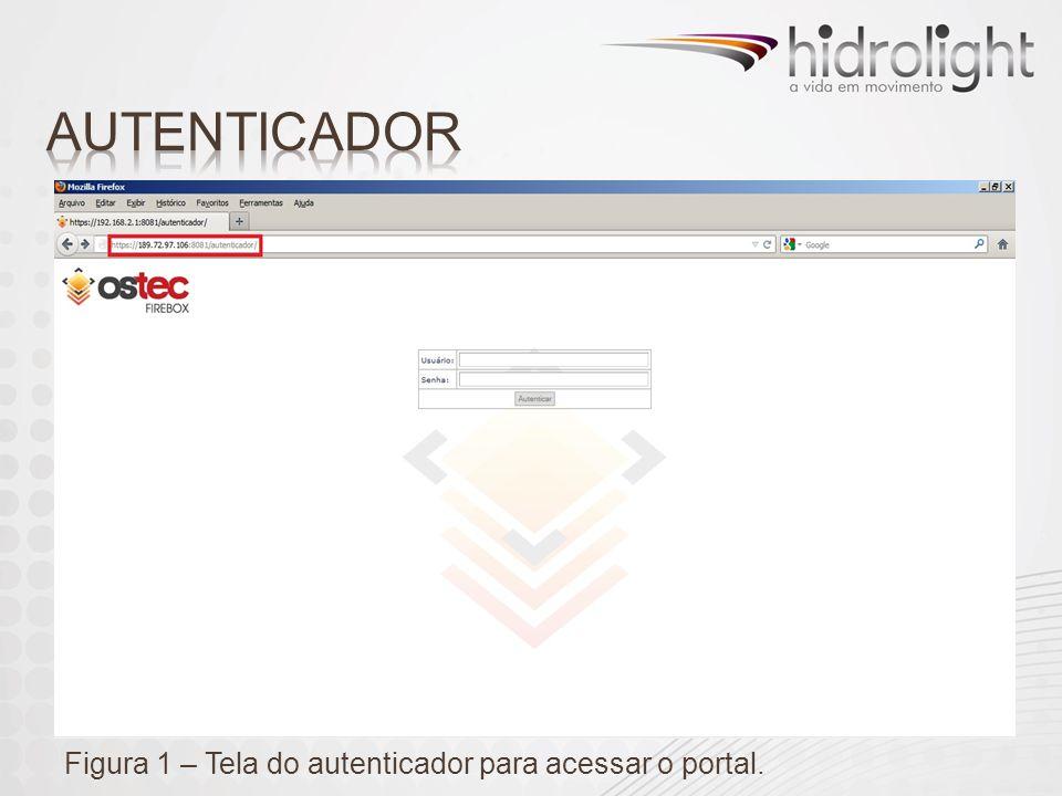 Figura 1 – Tela do autenticador para acessar o portal.