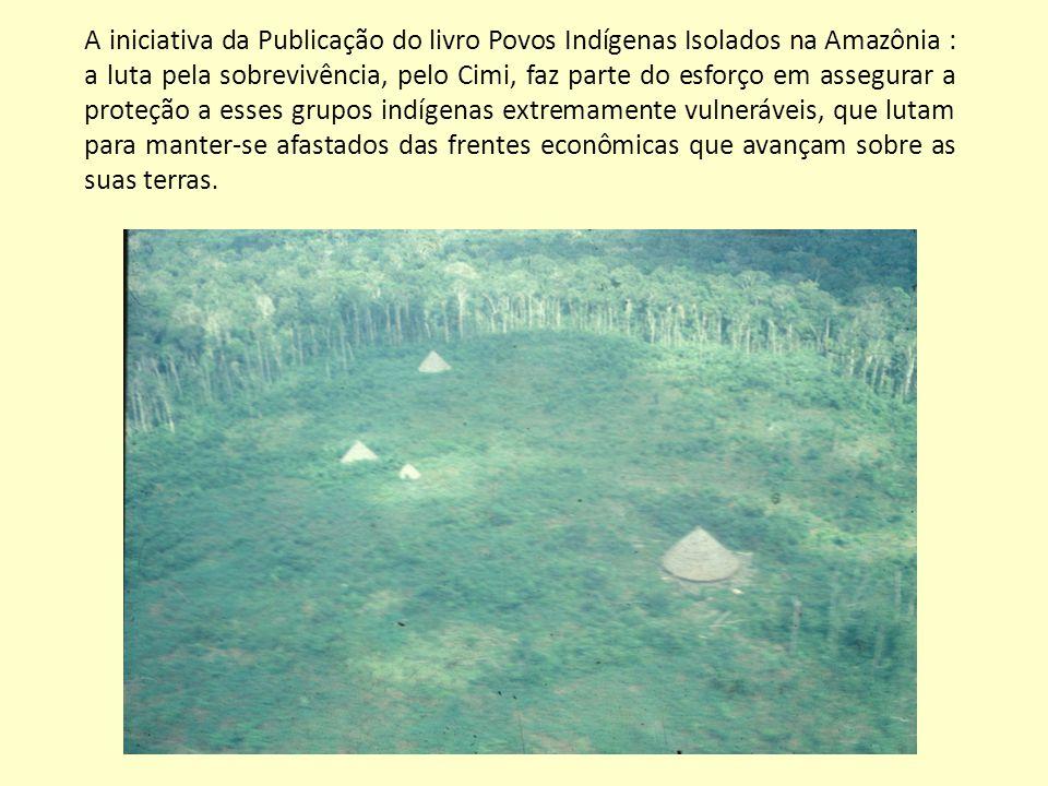 A iniciativa da Publicação do livro Povos Indígenas Isolados na Amazônia : a luta pela sobrevivência, pelo Cimi, faz parte do esforço em assegurar a p