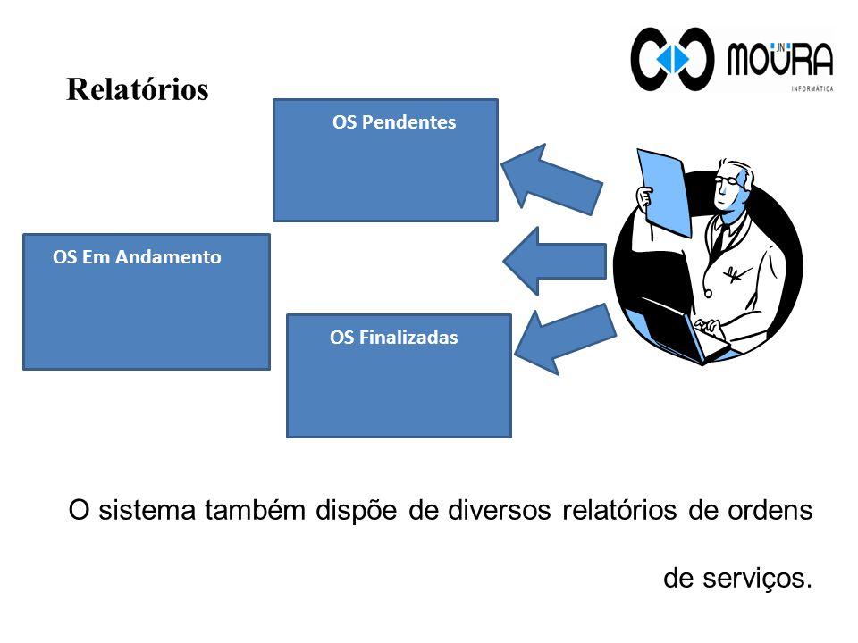 Relatórios O sistema também dispõe de diversos relatórios de ordens de serviços.