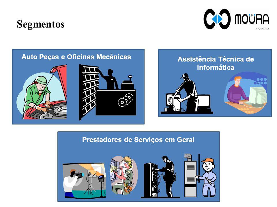 Segmentos Auto Peças e Oficinas Mecânicas Assistência Técnica de Informática Prestadores de Serviços em Geral