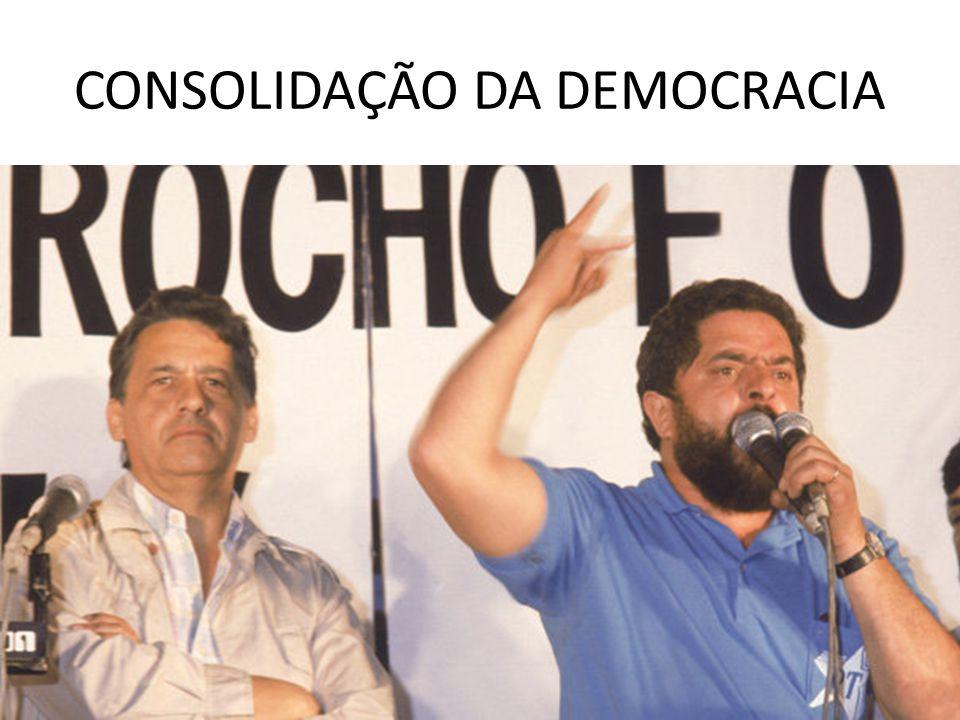 CONSOLIDAÇÃO DA DEMOCRACIA