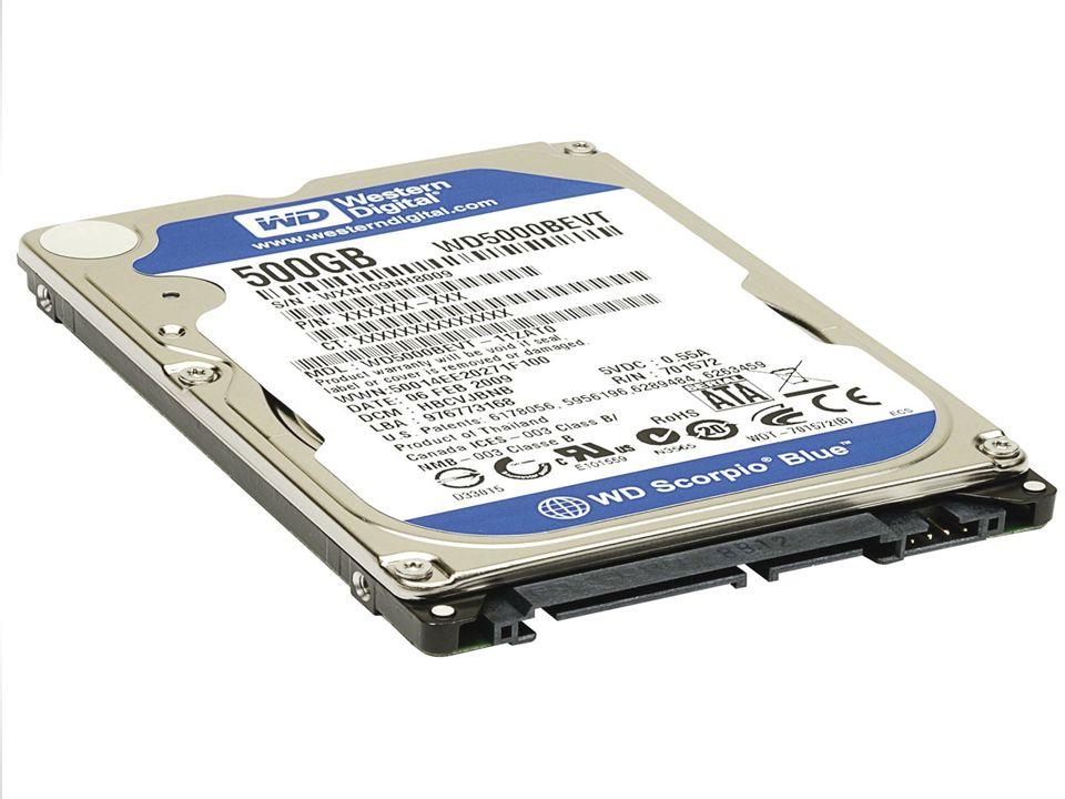Disco Rígido Também conhecido como HD (Hard Disk), é a parte do computador onde são armazenados os dados.
