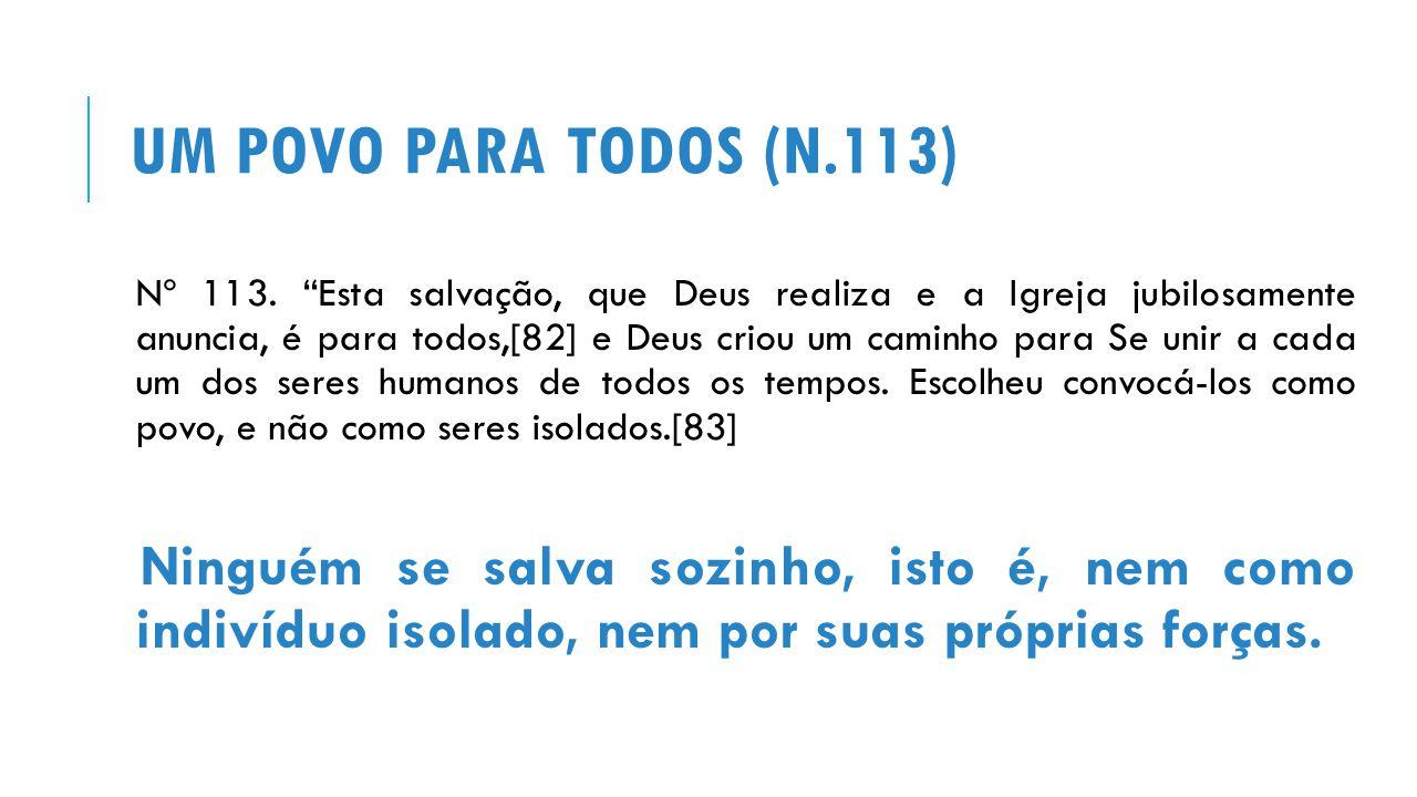UM POVO PARA TODOS (N.113) Nº 113.