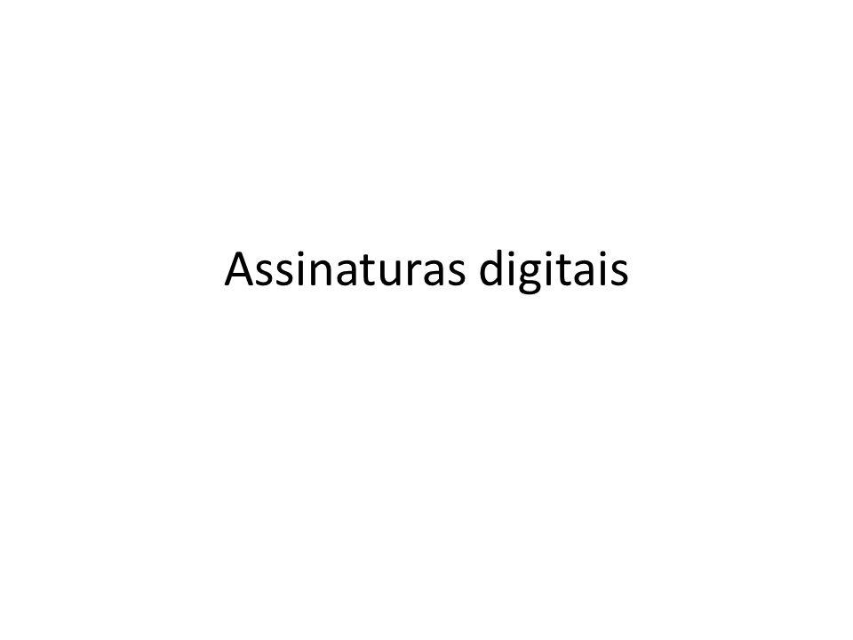 Assinaturas digitais