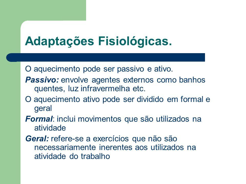 Adaptações Físicas Adaptações físicas estão relacionadas com a melhoria da flexibilidade, mobilidade articular, força e postura.