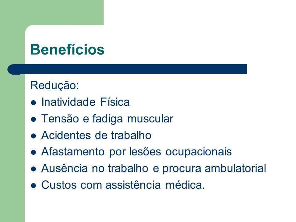 Bibliografia MENDES, R.A; LEITE, N.Ginástica Laboral: princípios e aplicações práticas.