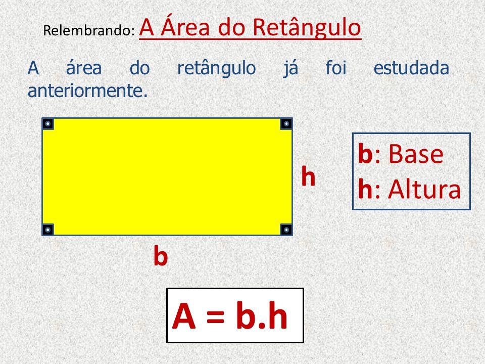 A Área do Quadrado Um Quadrado é um quadrilátero que possui os quatro lados iguais e os quatro ângulos retos*.