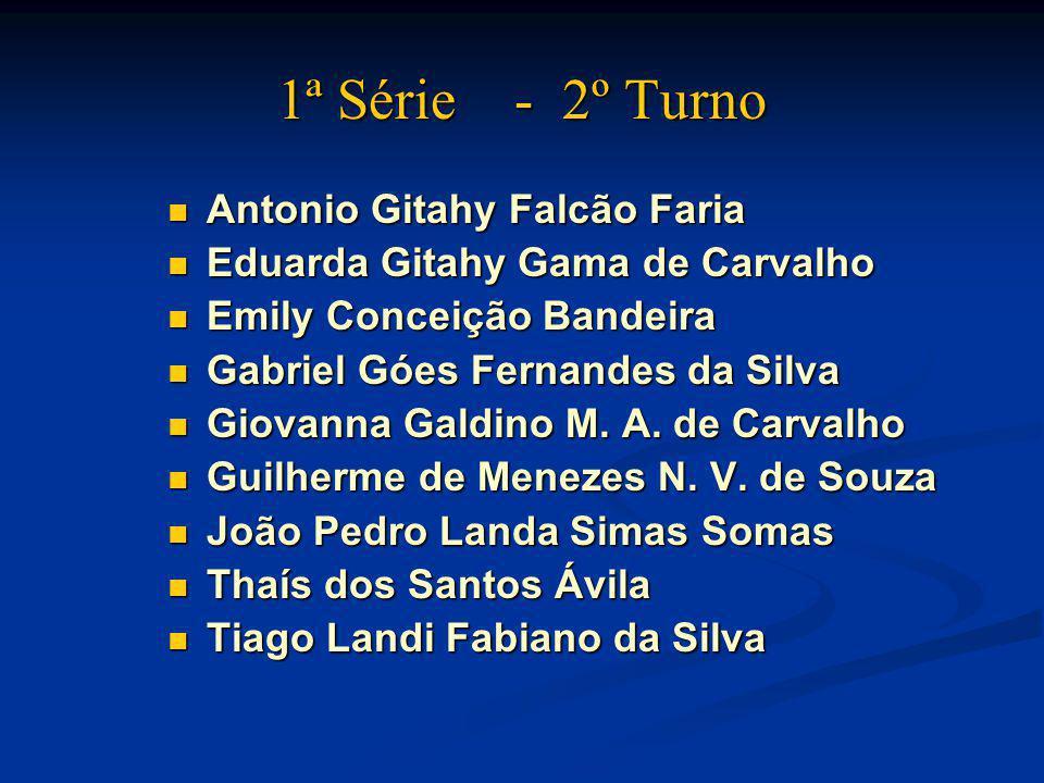 1ª Série - 2º Turno Antonio Gitahy Falcão Faria Antonio Gitahy Falcão Faria Eduarda Gitahy Gama de Carvalho Eduarda Gitahy Gama de Carvalho Emily Conc