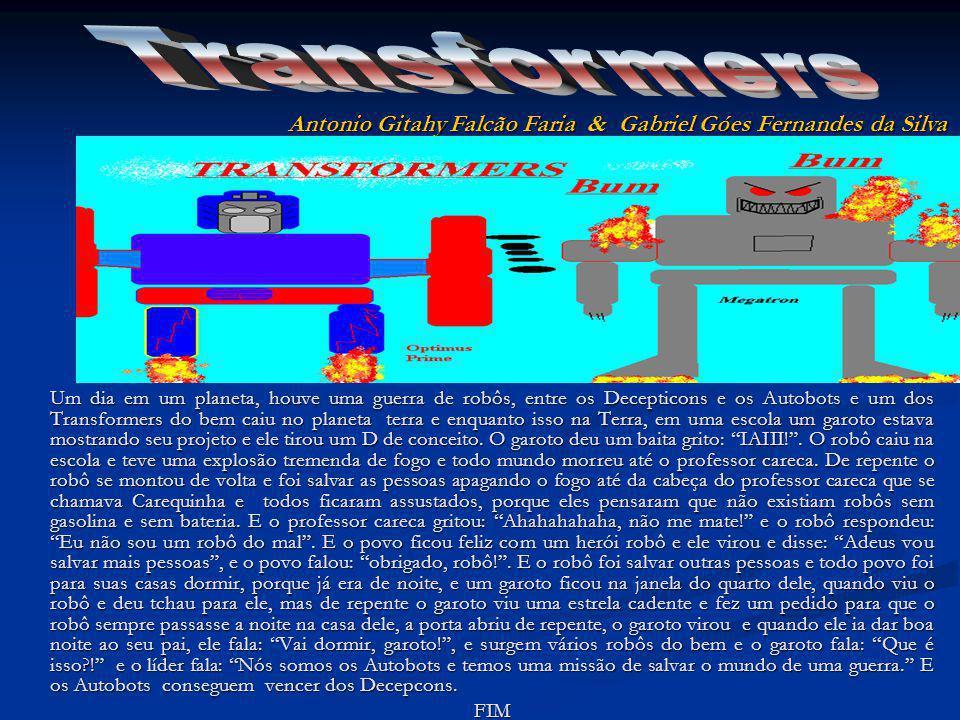 Um dia em um planeta, houve uma guerra de robôs, entre os Decepticons e os Autobots e um dos Transformers do bem caiu no planeta terra e enquanto isso na Terra, em uma escola um garoto estava mostrando seu projeto e ele tirou um D de conceito.