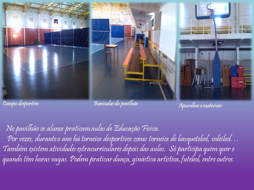 No pavilhão os alunos praticam aulas de Educação Física. Por vezes, durante o ano há torneios desportivos como torneios de basquetebol, voleibol… Tamb