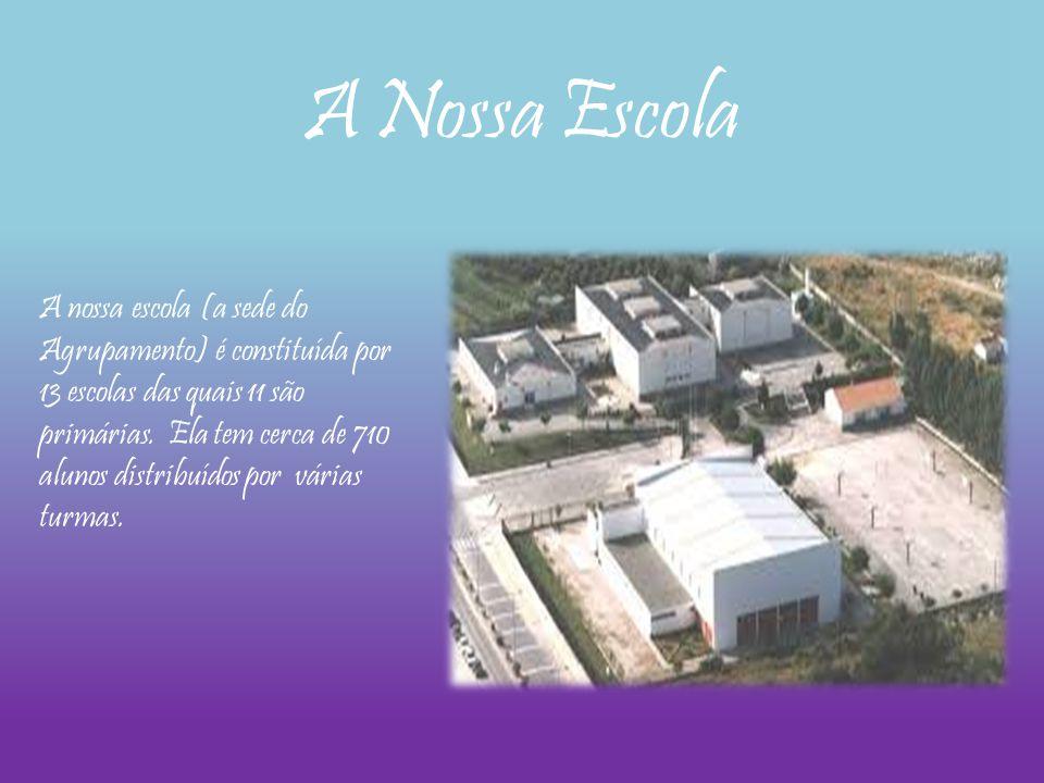 A nossa escola (a sede do Agrupamento) é constituída por 13 escolas das quais 11 são primárias. Ela tem cerca de 710 alunos distribuídos por várias tu