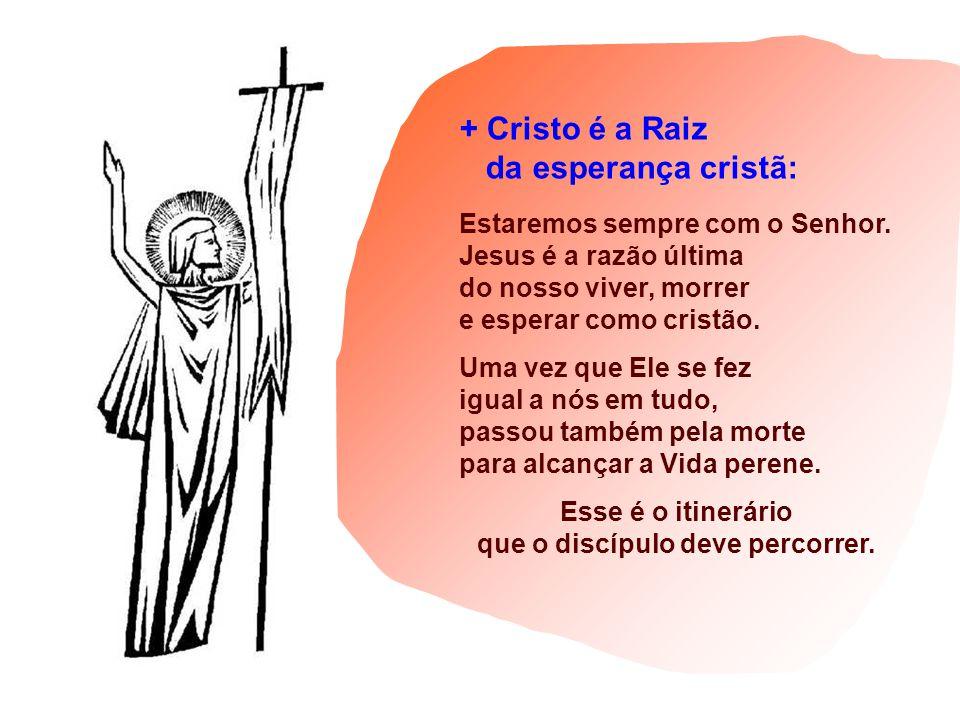 + Cristo é a Raiz da esperança cristã: Estaremos sempre com o Senhor.