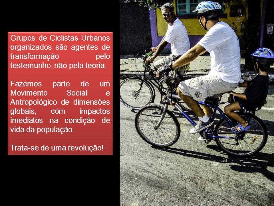 Grupos de Ciclistas Urbanos organizados são agentes de transformação pelo testemunho, não pela teoria.