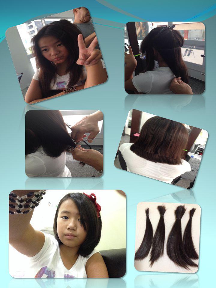 Estou muito feliz por ter doado meu cabelo, isso me deixou muito feliz.