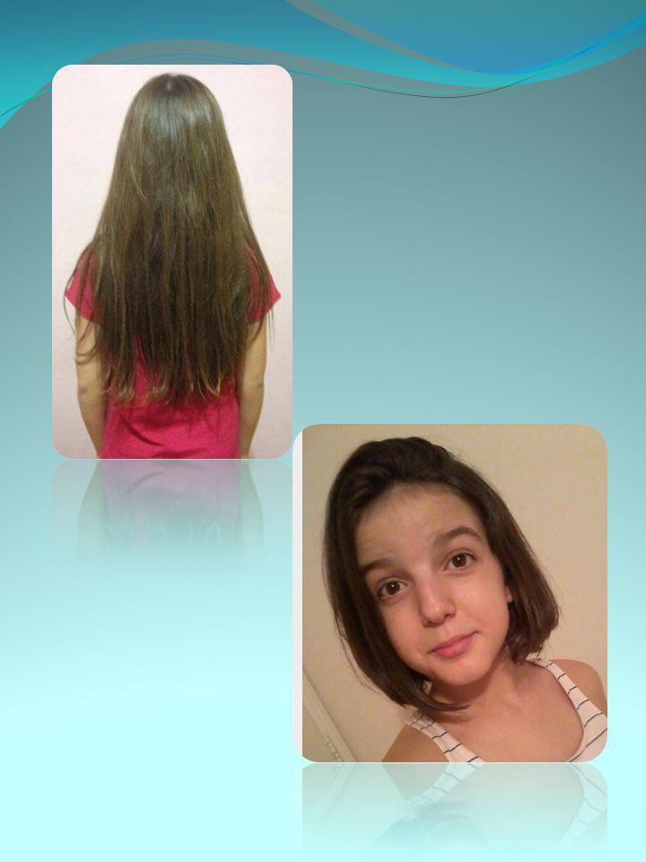 Bem, eu tive a ideia de doar meu cabelo, vendo as fotos da Cabelegria .