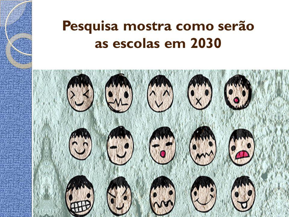 Pesquisa mostra como serão as escolas em 2030