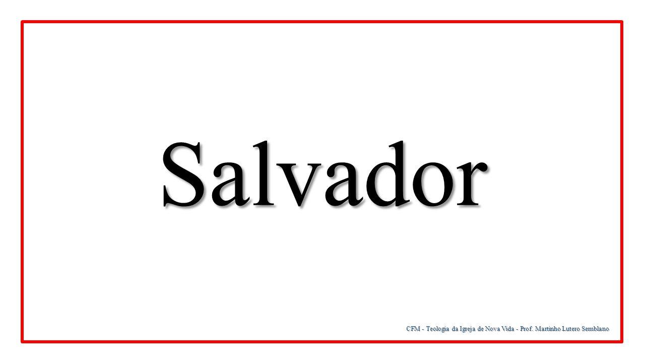 CFM - Teologia da Igreja de Nova Vida - Prof. Martinho Lutero Semblano Salvador