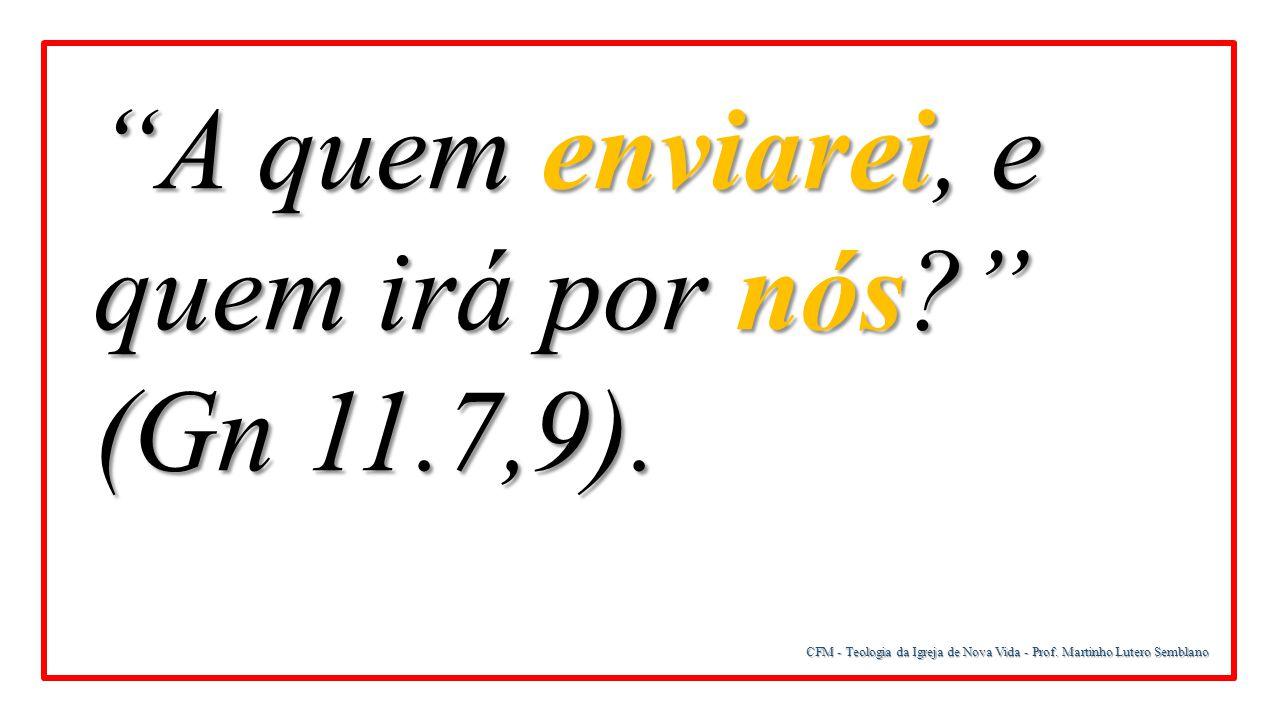 CFM - Teologia da Igreja de Nova Vida - Prof. Martinho Lutero Semblano Onipresente