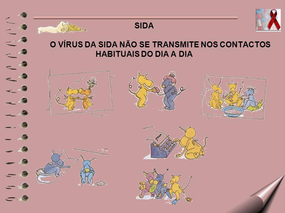 SIDA O VÍRUS DA SIDA NÃO SE TRANSMITE NOS CONTACTOS HABITUAIS DO DIA A DIA