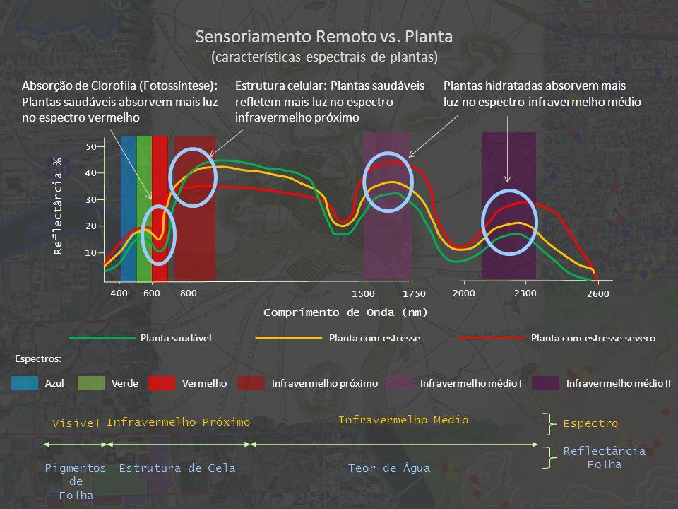Sensoriamento Remoto vs.