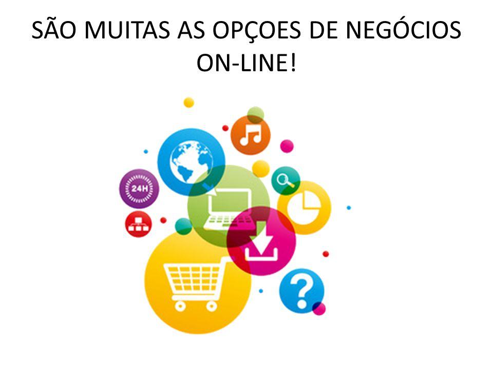 SÃO MUITAS AS OPÇOES DE NEGÓCIOS ON-LINE!