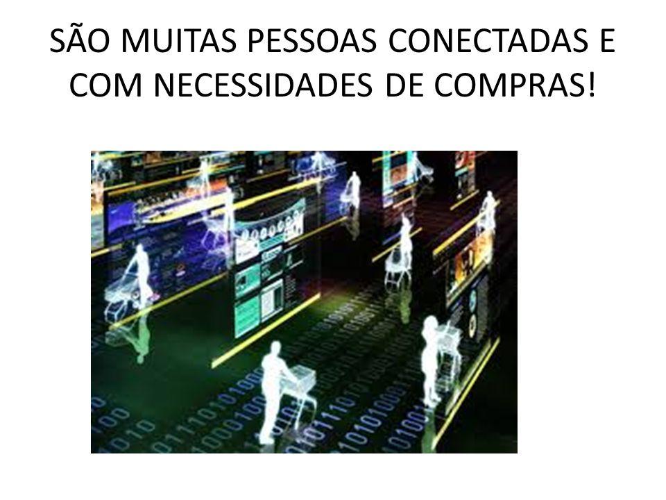 SÃO MUITAS PESSOAS CONECTADAS E COM NECESSIDADES DE COMPRAS!