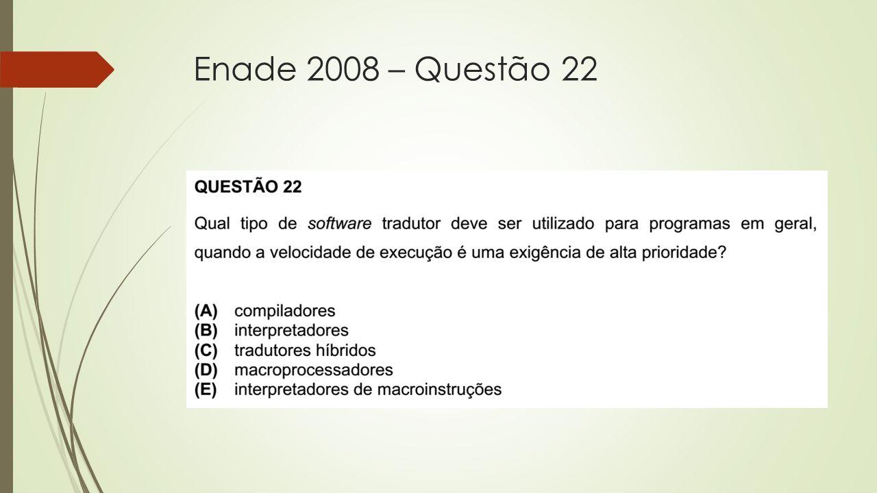 Enade 2008 – Questão 22