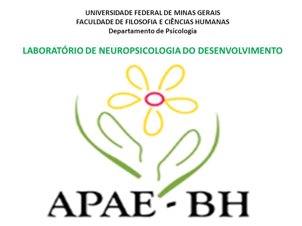 UNIVERSIDADE FEDERAL DE MINAS GERAIS FACULDADE DE FILOSOFIA E CIÊNCIAS HUMANAS Departamento de Psicologia LABORATÓRIO DE NEUROPSICOLOGIA DO DESENVOLVIMENTO