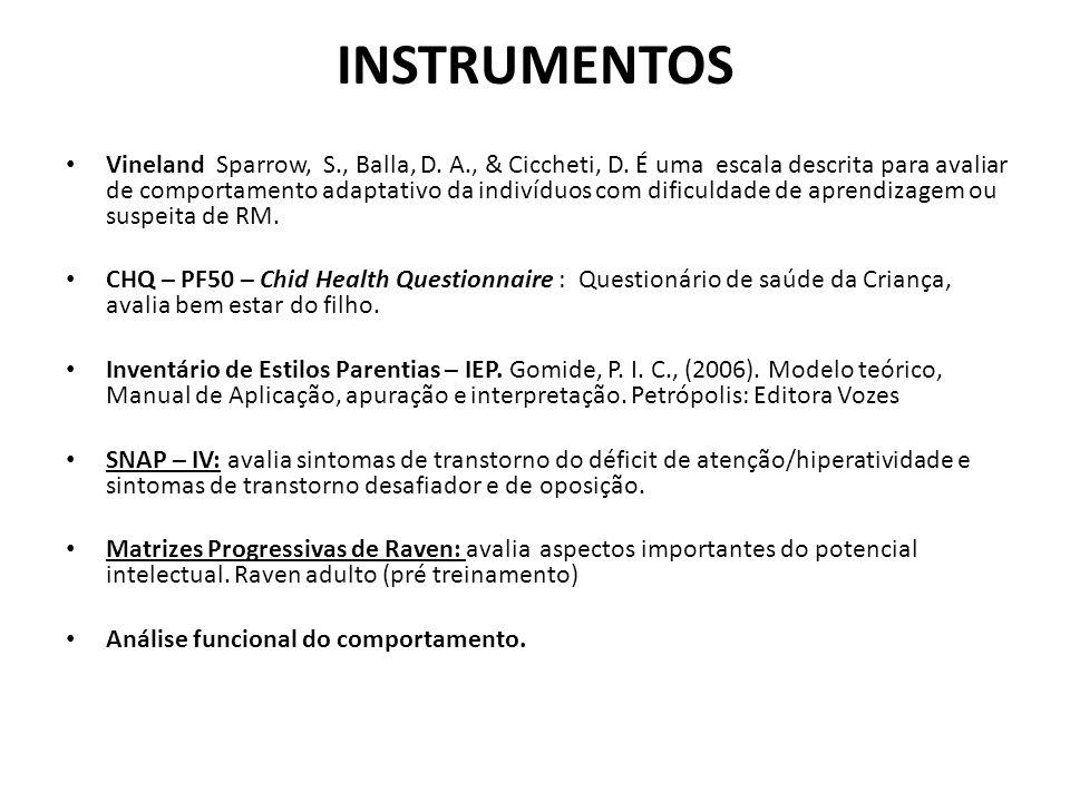 INSTRUMENTOS Vineland Sparrow, S., Balla, D.A., & Ciccheti, D.
