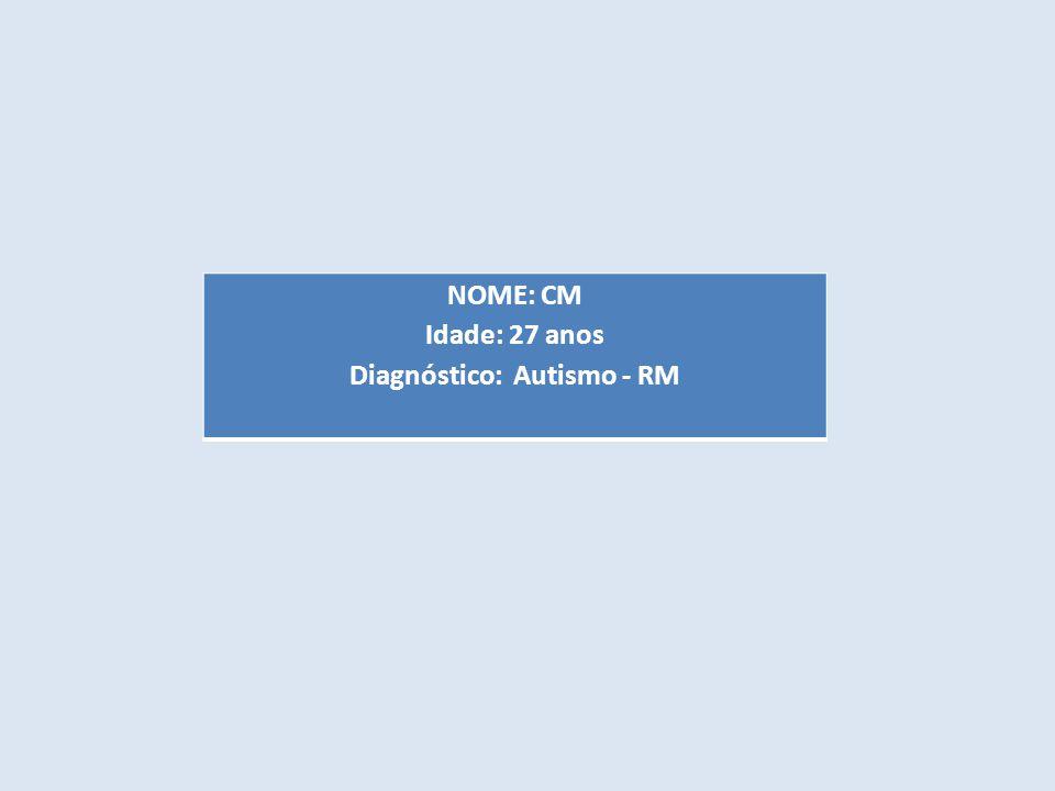 NOME: CM Idade: 27 anos Diagnóstico: Autismo - RM