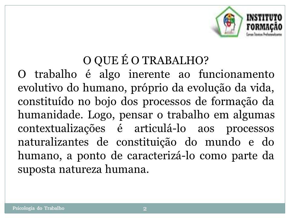 2 O QUE É O TRABALHO.