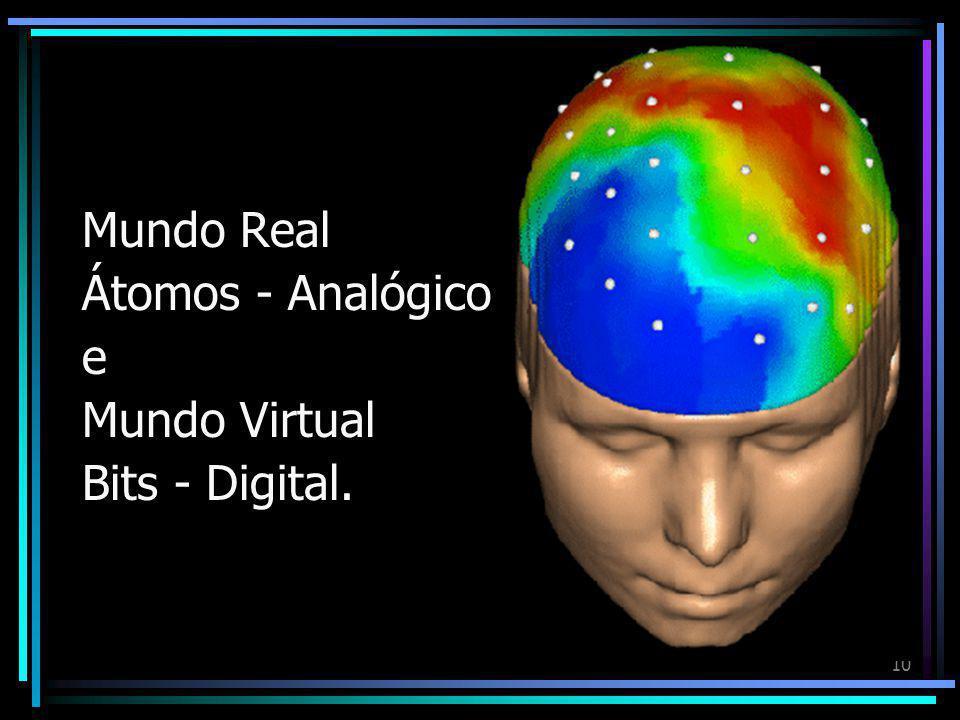 """9 O Real e o Virtual """"Bits e Átomos A melhor maneira de avaliar os méritos e as conseqüências da vida digital é refletir sobre a diferença entre bits"""