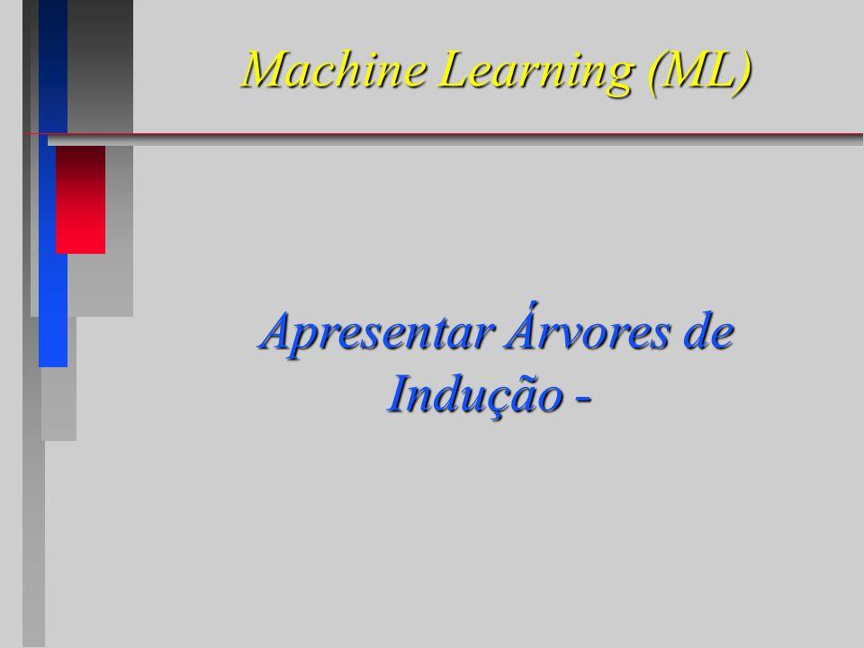 Machine Learning (ML) Apresentar Árvores de Indução - Apresentar Árvores de Indução -