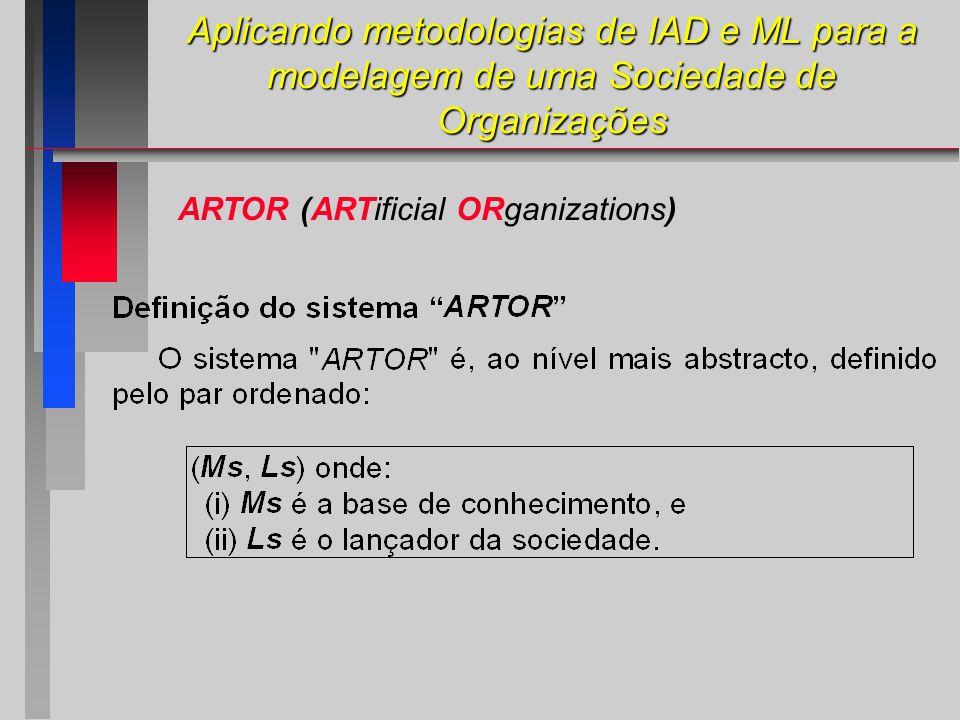 ARTOR (ARTificial ORganizations) Aplicando metodologias de IAD e ML para a modelagem de uma Sociedade de Organizações