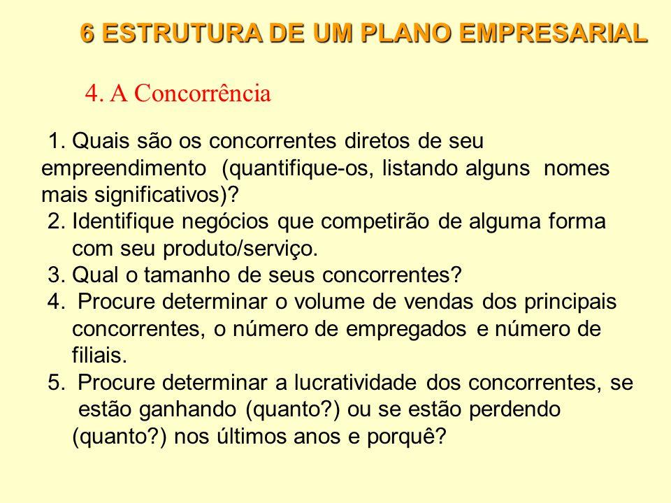 6 ESTRUTURA DE UM PLANO EMPRESARIAL 3.1 Estudo de Mercado · Pesquisa Qualitativa (Perguntas abertas) 1) Ler todas as respostas para assegurar-se de te