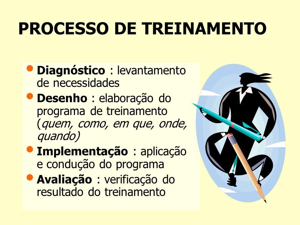 OBJETIVOS DE UM TREINAMENTO 1.Transmissão de Informações : aumentar o conhecimento das pessoas; 2.Desenvolvimento de Habilidades : melhorar as habilid