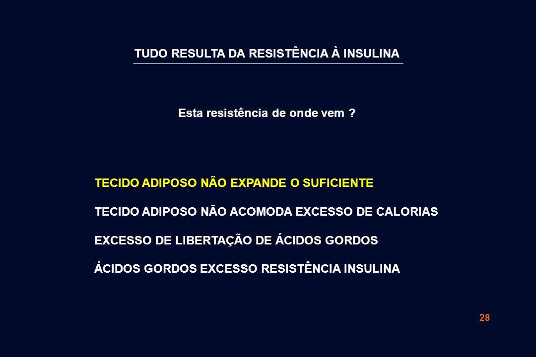 28 TUDO RESULTA DA RESISTÊNCIA À INSULINA Esta resistência de onde vem .