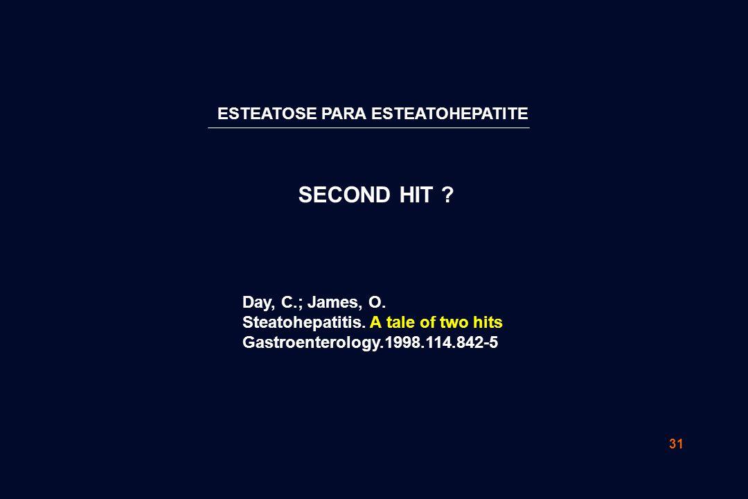 31 ESTEATOSE PARA ESTEATOHEPATITE SECOND HIT .Day, C.; James, O.