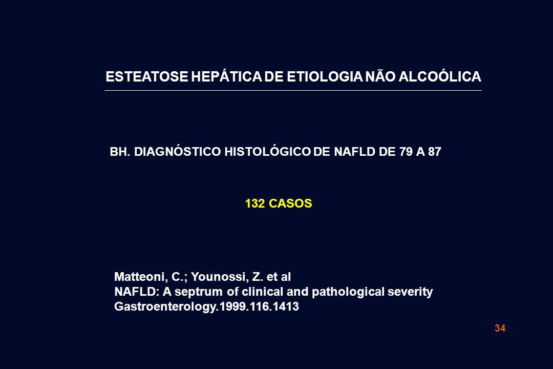 34 Matteoni, C.; Younossi, Z. et al NAFLD: A septrum of clinical and pathological severity Gastroenterology.1999.116.1413 BH. DIAGNÓSTICO HISTOLÓGICO