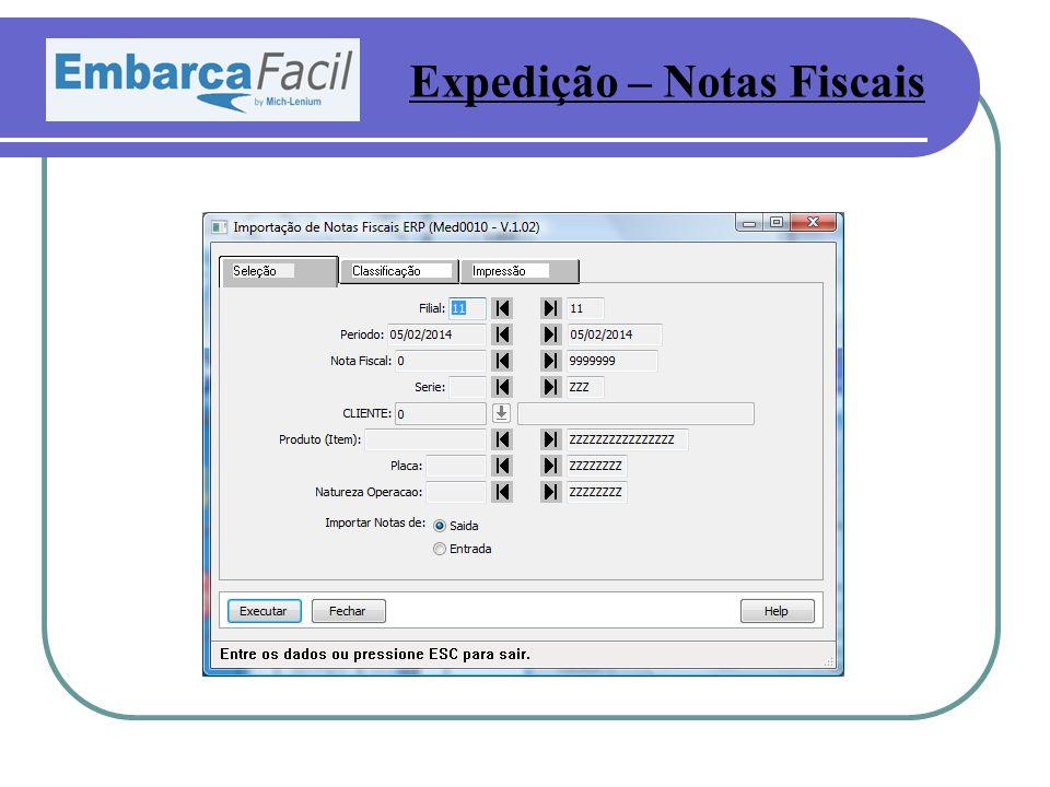 Expedição – Notas Fiscais