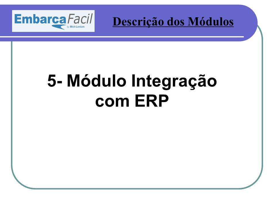 5- Módulo Integração com ERP Descrição dos Módulos